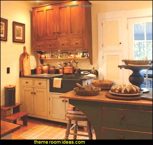 farmhouse kitchen decorating ideas primitive colonial farmhouse kitchen decor