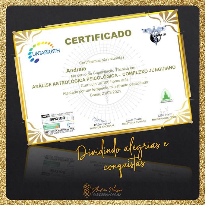 Análise Astrológica Psicológica | Meu certificado