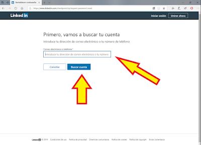 pantalla-contraseña-olvidada-LinkedIn