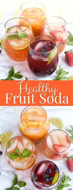4 kinds of healthy fruit soda
