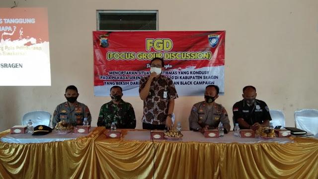 Kodim Sragen - Jelang Pilkada, Waspadai Black Campaign dan Money Politik