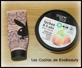 Loción corporal Playboy y Crema corporal Organic Shop terminadas #productosterminados #terminados #empties