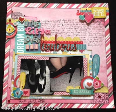 scrapbook layout shimelle laine glitter girl episode 101 scrapbooking echo park embellishment clusters