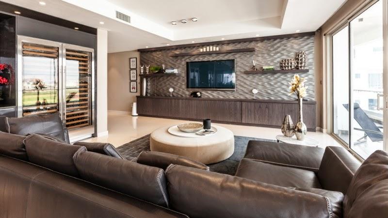 Salas en color crema y marrón - Colores en Casa