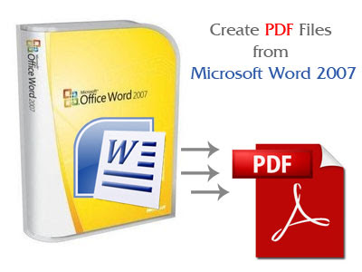 Make PDF files using Microsoft Word
