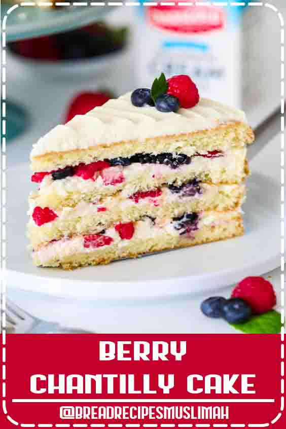 This Chantilly berry cake recipe loaded with 4 different berries, sweet mascarpone cream cheese frosting, and 4 fluffy vanilla cake layers. #berrycake #chantillycake #whitecake #chantilly frosting Mixedberrycake #bread #Fruit #Bread #Recipes #videos
