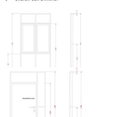 Ukuran dan dimensi panel pintu risha