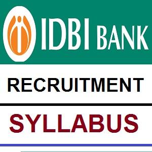 IDBI Executive Exam Syllabus 2018