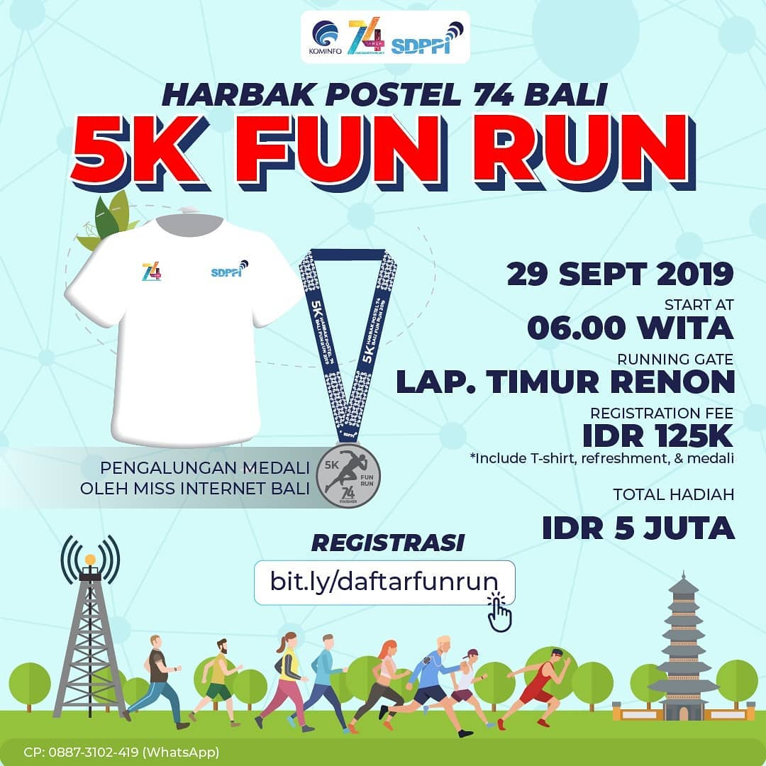 HarBak Postel 74 Bali Fun Run 5K • 2019