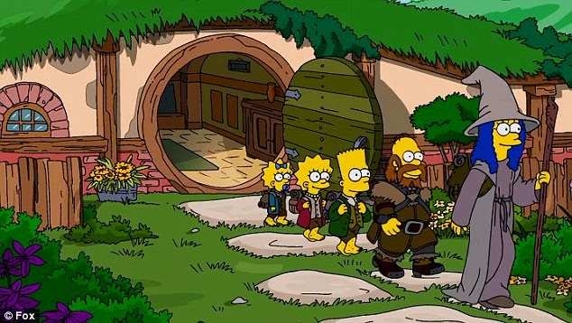 The Simpsons In A Parody Of The Hobbit That S Awesome Teaser Trailer