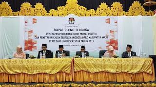 Berita Acara & Surat Keputusan Penetapan Perolehan Kursi Partai Politik & Penetapan Calon Terpilih Anggota DPRD Kabupaten Wajo Pemilu 2019