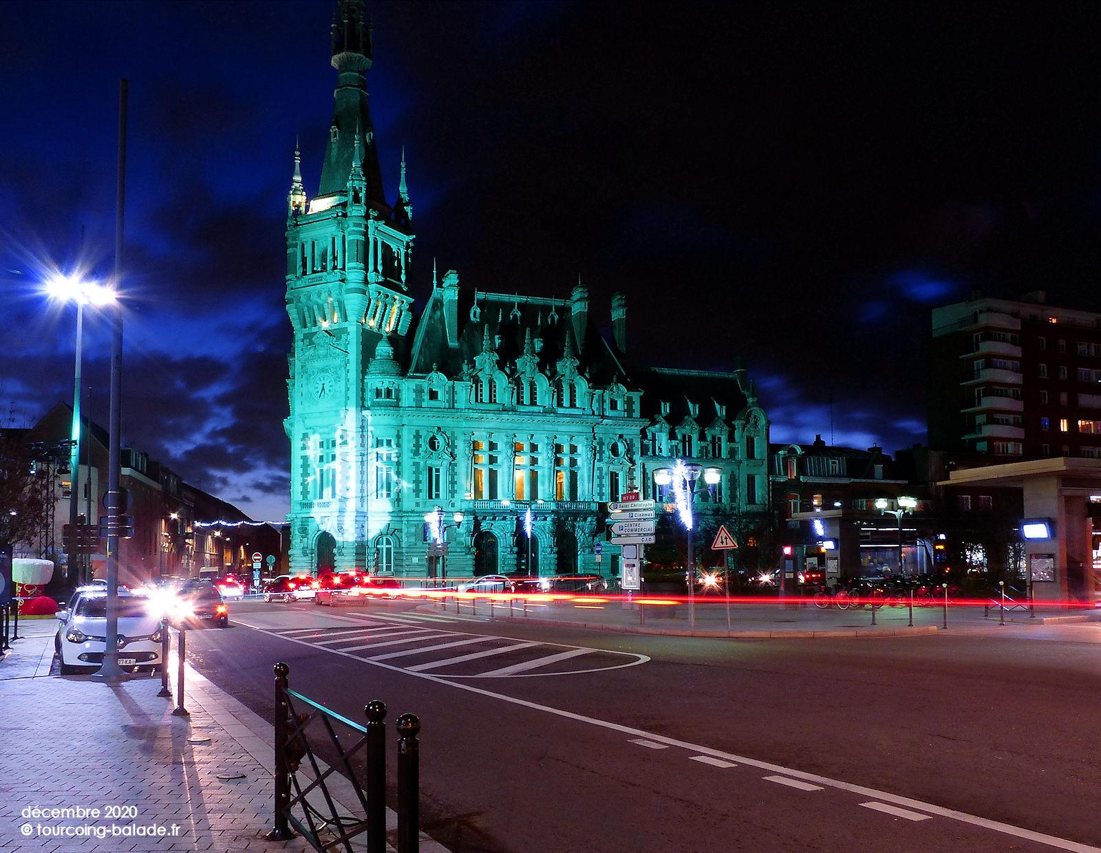 Tourcoing Nuit 2020 - Beffroi illuminé