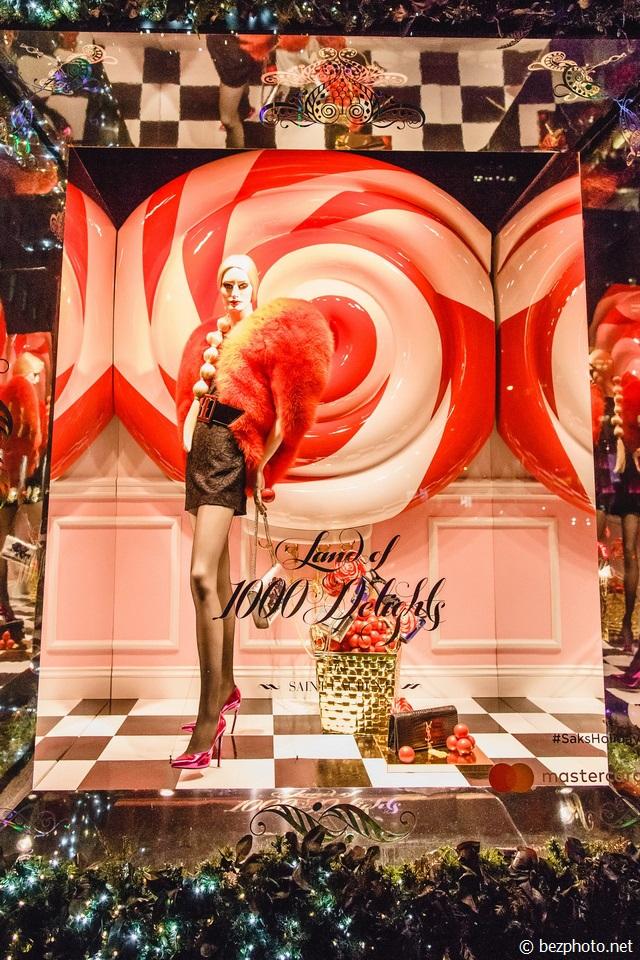 рождественские витрины нью-йорк 2016 saks