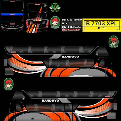 livery bussid bimasena handoyo hitam