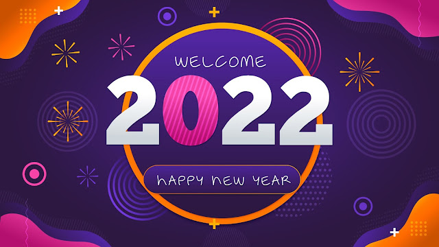 Welcome to the 2022 New Year HD background