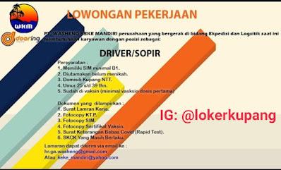 Lowongan Kerja PT. Washeng Keke Mandiri Sebagai Driver/Sopir