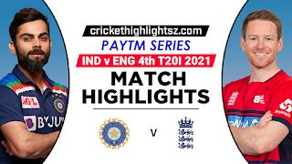 Cricket Highlightsz - India vs England 4th T20I 2021 Highlights