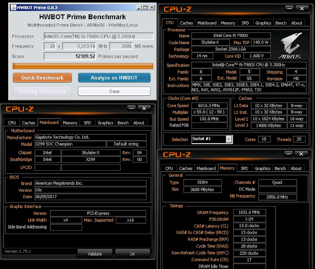 image_id_1868559d Sofos breaks 6GHz stable barrier with Intel Core i9 7900X to retake HWBOT record Technology