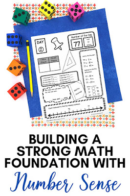 Building a strong math foundation starts with strong number sense skills.  These tips and ideas will help you incorporate number sense building activities into your classroom.