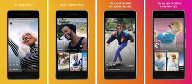 la app para ver videos en formato largo, IGTV de instagram