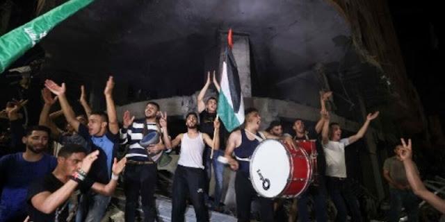 Masyarakat Gaza Bersuka Cita Atas Gencatan Senjata Israel-Hamas, Teriak 'Palestina Menang, Allahu Akbar'