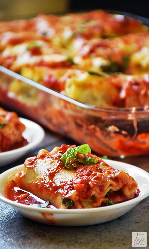 Shrimp Lasagna Rolls