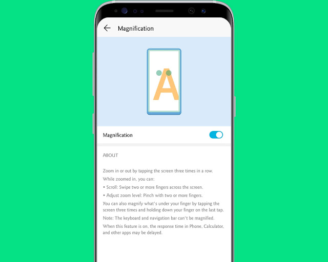 Magnify the Screen - hidden android features