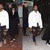 FASHION: Kanye West Wore Reaped Jeans As He Arrived Paris With Kris Jenner!