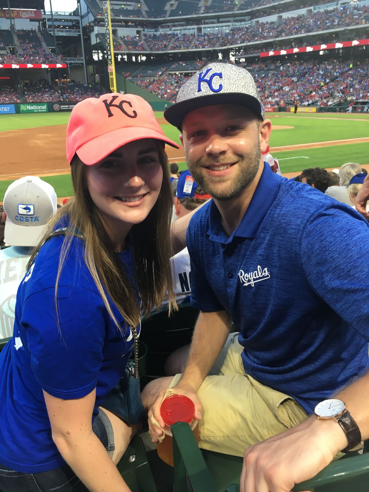 Kansas City Royals at Texas Rangers Stadium