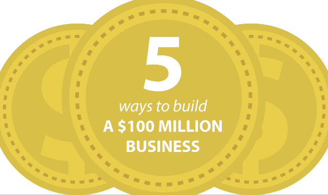 5 Ways To Build a $100 Million Business