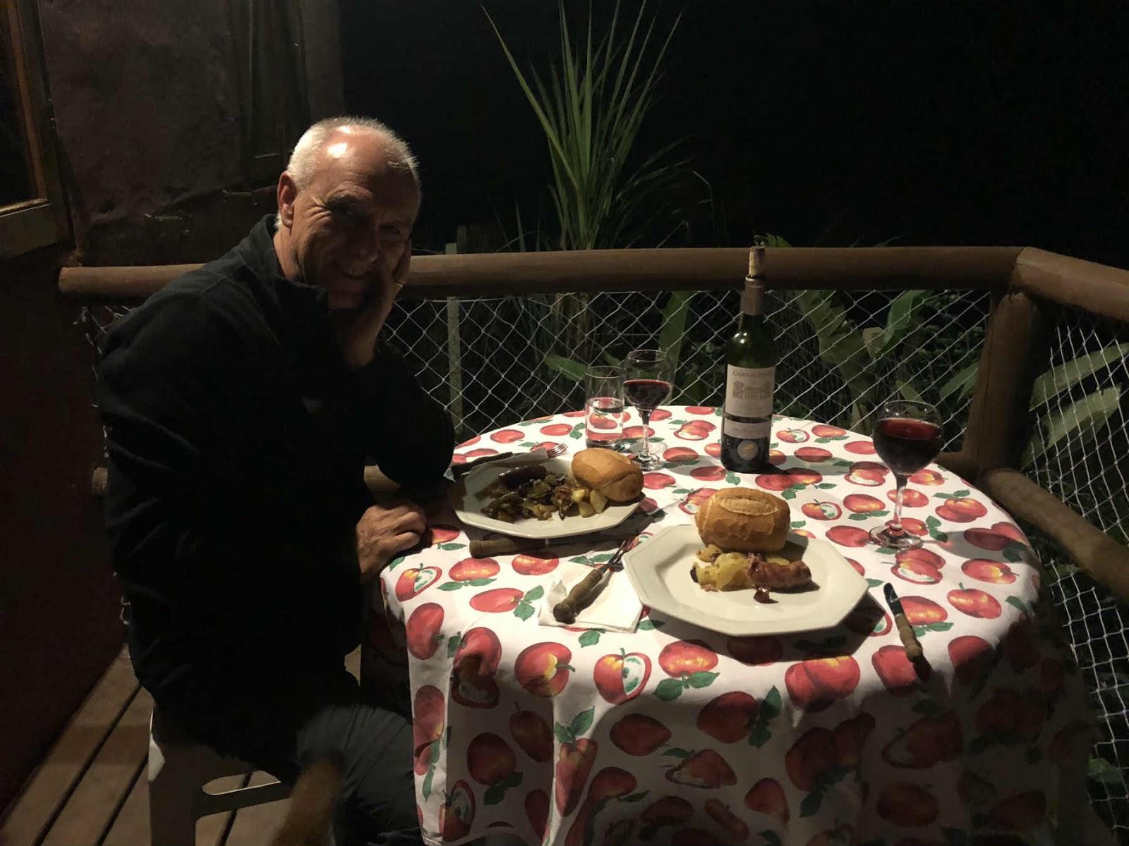 jantar no chalé em gonçalves