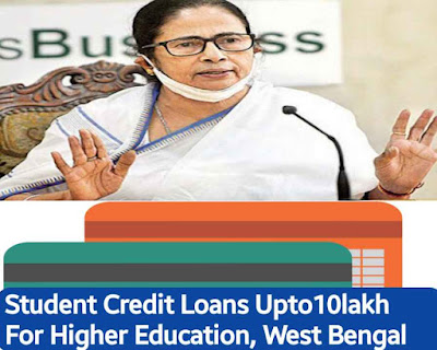 Student Credit Card Rs.10 Lakh For West Bengal Students for Higher Education Lones