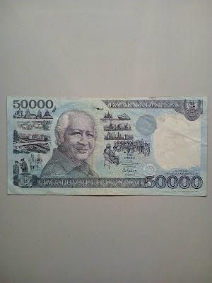 50000 rupiah tahun 1993