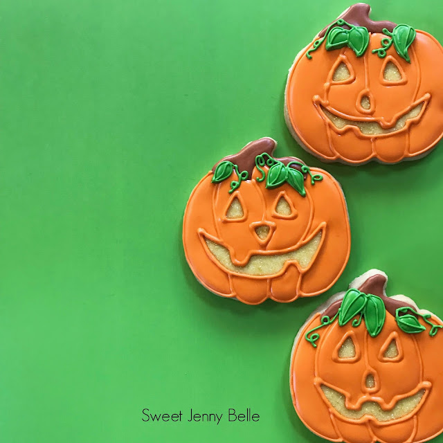 classic pumpkin Halloween cookie