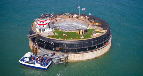 No Man's Land Fort The sensation of staying in the middle of the England sea