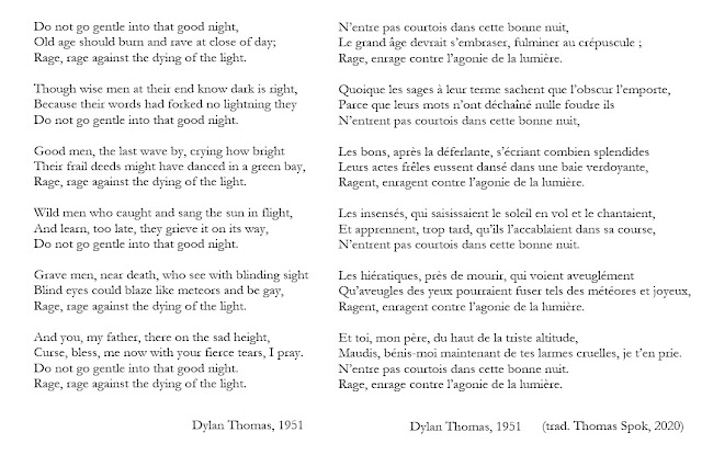 Do not go gentle de Dylan Thomas poème et traduction
