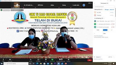 Sosialisasi Daring SMK TI Bali Global Badung Bersama Siswa-siswi Kelas IX SMP Negeri 6 Mengwi