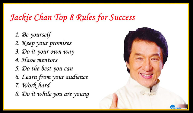 Jackie Chan Top 8inspiring Rules for Success