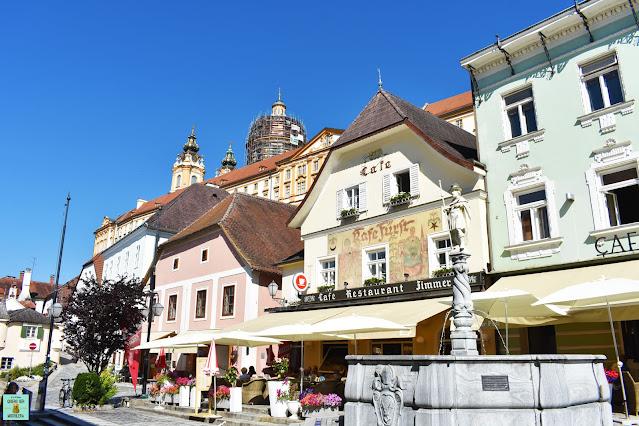 Plaza central de Melk, Austria