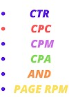 What Is Page Ctr, Cpc, Cpm, Cpa  And Page Rpm In Google Adsense