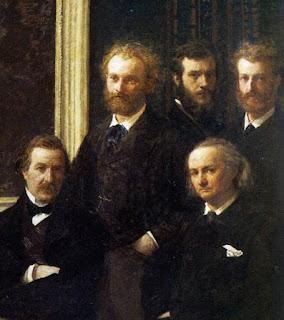Henri Fantin-Latour : Hommage à Delacroix (détail)