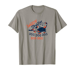 Men's Daddy Shark Doo Doo costume funny Shark T-Shirt