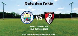 Data dan Fakta Fantasy Premier League Manchester City vs Bournemouth Fantasi Manager Indonesia