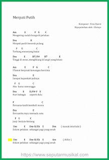 chord lagu merpati putih chrisye
