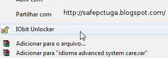 iobit unlocker apagar ficheiros teimosos
