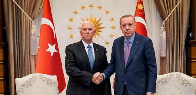 4 أمور انتبه لها في مقابلة أردوغان مع بنس بشأن اتفاق تعليق عمليات نبع السلام في سوريا
