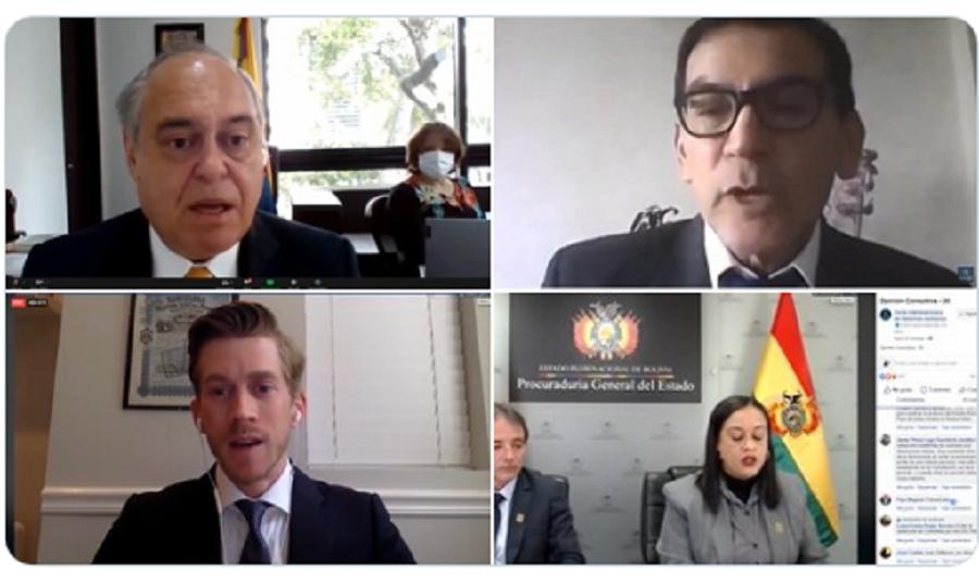 Delegados de EEUU, Colombia y Bolivia en la Audiencia Pública de la Solicitud de Opinión Consultiva sobre la figura de la reelección presidencial indefinida / TWITTER CIDH