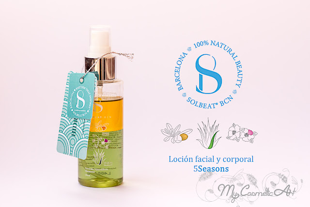 5Seasons de Solbeat BCN, loción facial y corporal 100% natural.