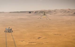 Un helicóptero en Marte