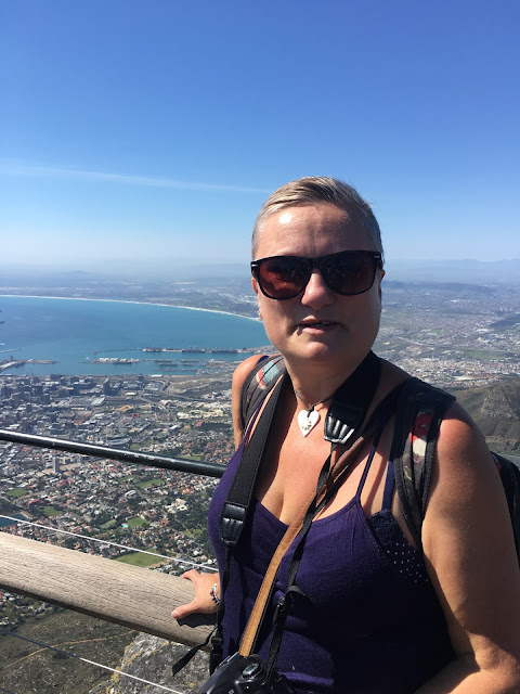 madmumof7 on top of Table Mountain overlooking Cape Town, South Africa